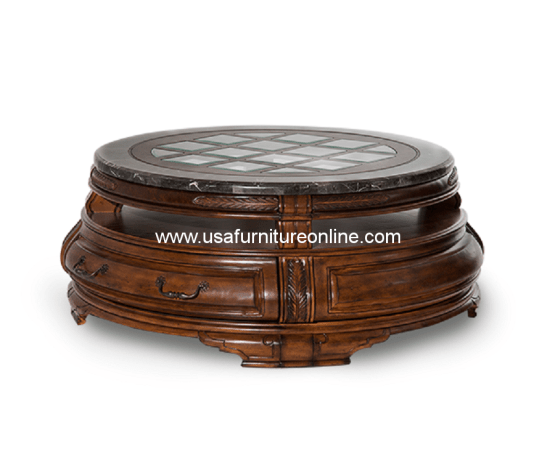 Tuscano Melange Round Cocktail Table