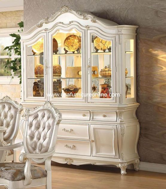 Chantelle Pearl White Hutch