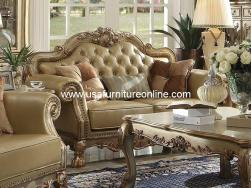 Dresden Loveseat Gold Patina