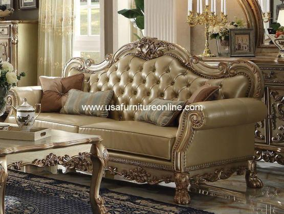 Dresden Sofa Gold Patina
