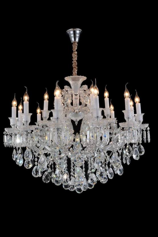 25 Light Chambord Chandelier Clear Glass