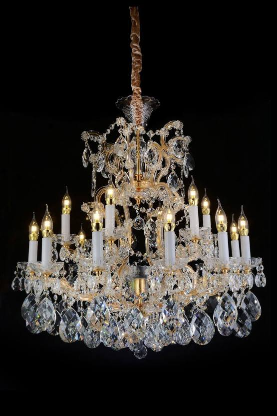 25 Light San Carlo Chandelier Clear Glass & Gold Finish