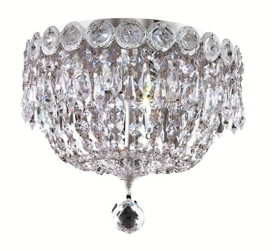 3 Lights Flush Mount 1900 Century Collection By Elegant Lighting