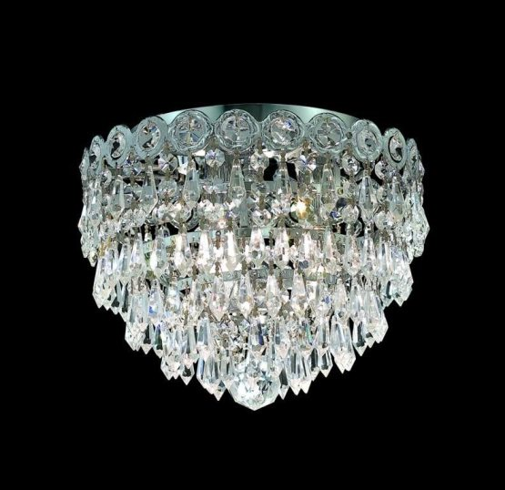3 Lights Flush Mount Chandelier 1902 Century Collection