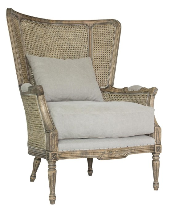 Amelia Wood Trim Salon Chair