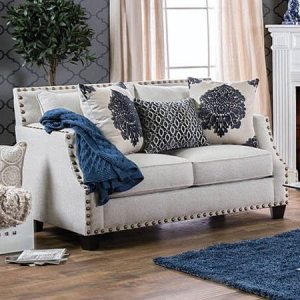 Furniture Of America Cornelia Beige Fabric Loveseat
