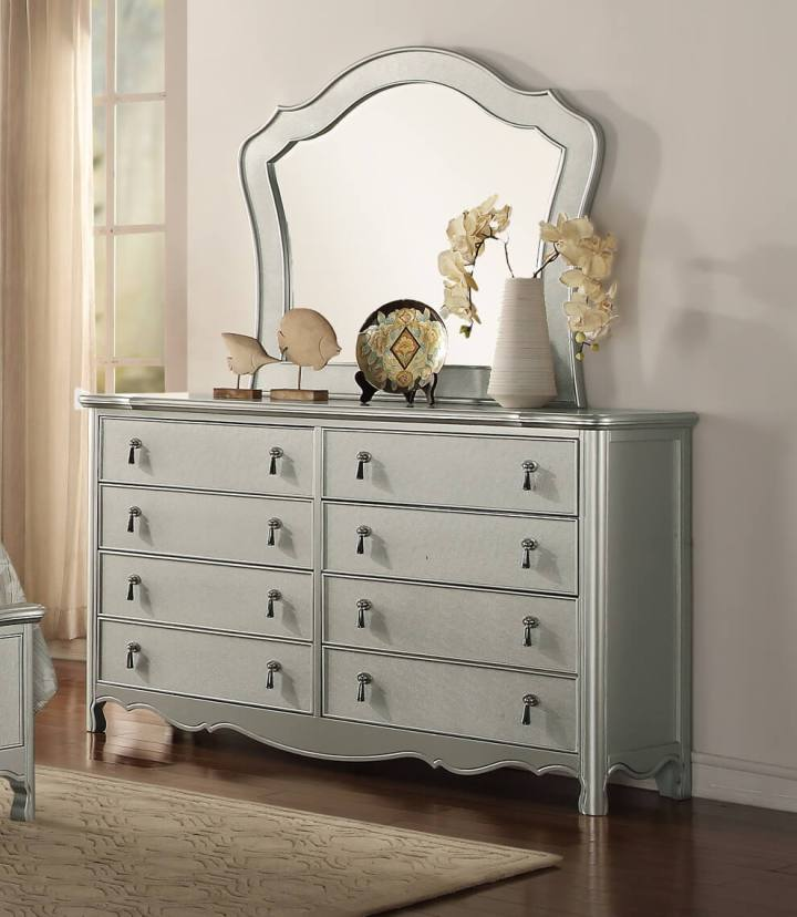 Toulouse 8 Drawer Dresser Silver Finish