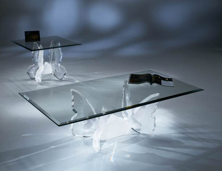 Clear Acrylic Butterfly II Coffee Table