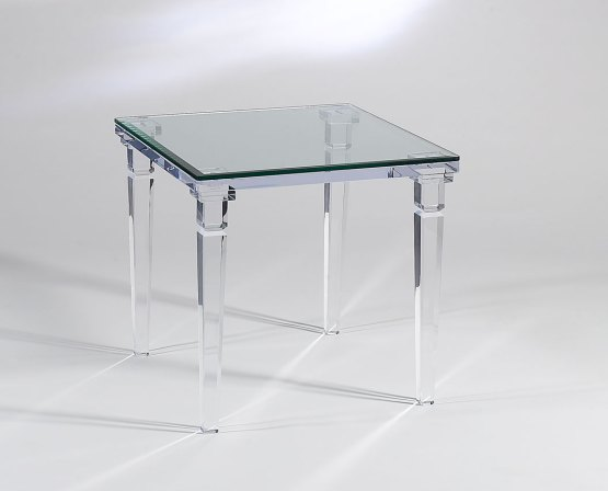 Clear Acrylic Chateau End Table