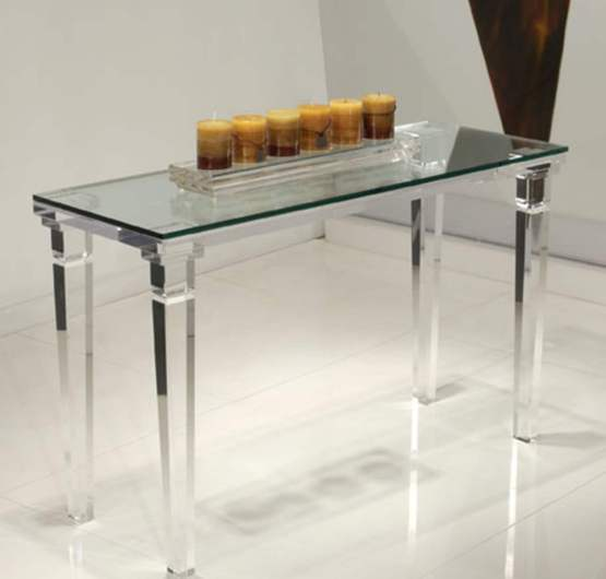 Clear Acrylic Chateau Sofa Table