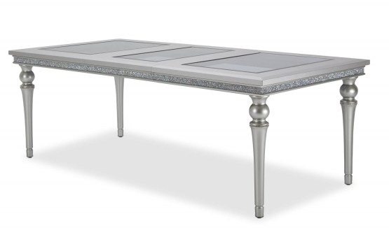 Melrose Plaza 4 Leg Upholstered Dining Table