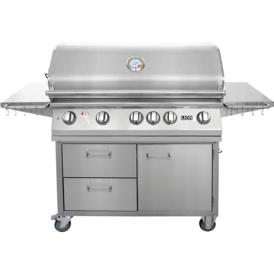 Lion 40-Inch L90000 5 Burners Premium Grills Stainless Steel