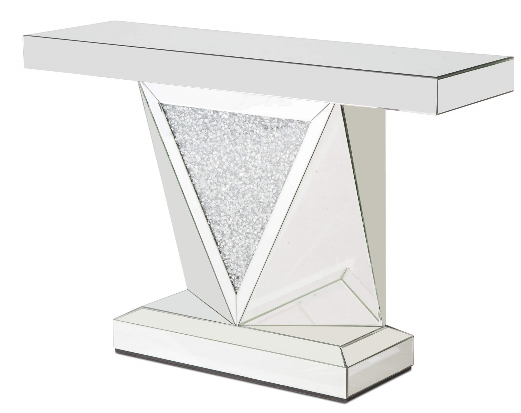 Charmant Montreal Console Table Mirror With Crystal AICO