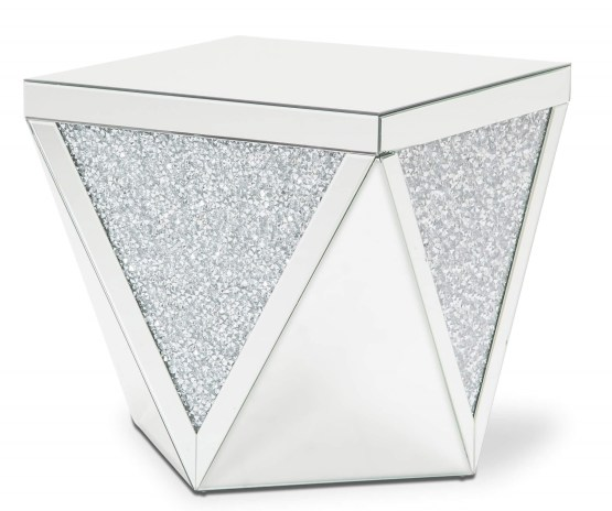 Montreal End Table Mirror With Crystal Aico Fs Mntrl 1456
