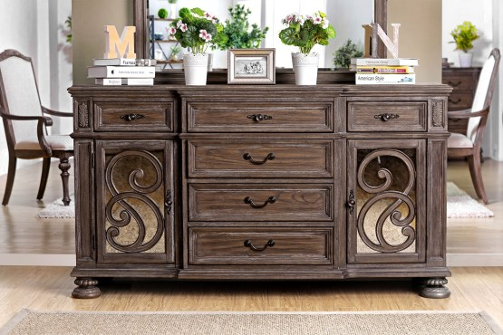 Arcadia Server Rustic Natural Finish