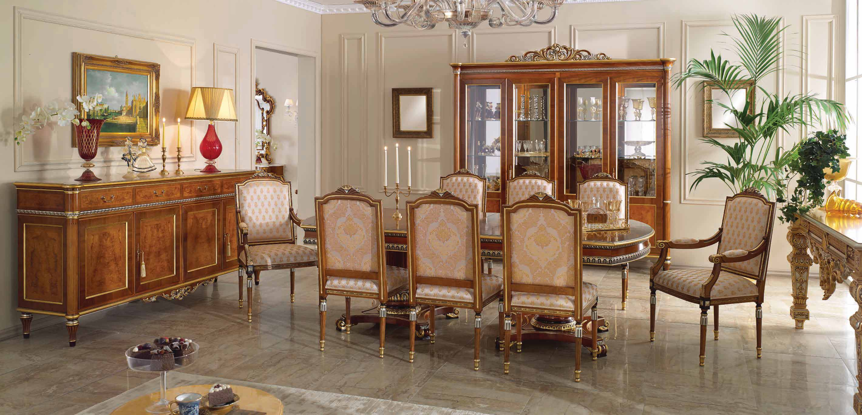 Luxury Royal Italian Dining Set Made In Italy