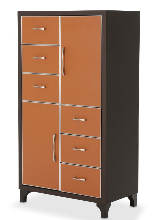 21 Cosmopolitan Orange 6 Drawer Chest