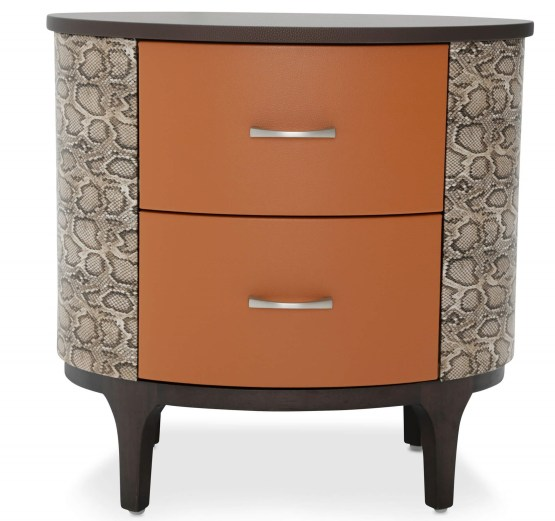 21 Cosmopolitan Orange Oval Bachelor's Chest