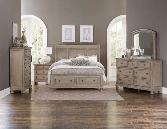 4 Piece Bethel Storage Sleigh Bedroom Set