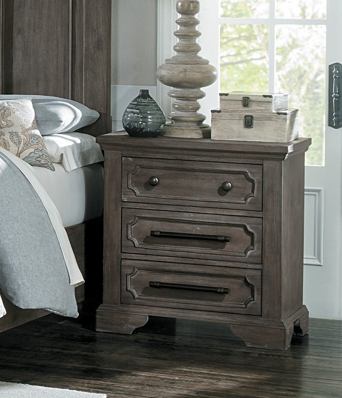 Toulon 3 Drawer Nightstand