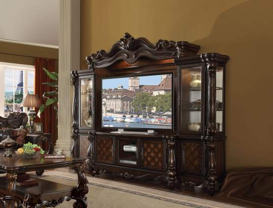 4 Piece Versailles Cherry Oak Entertainment Center