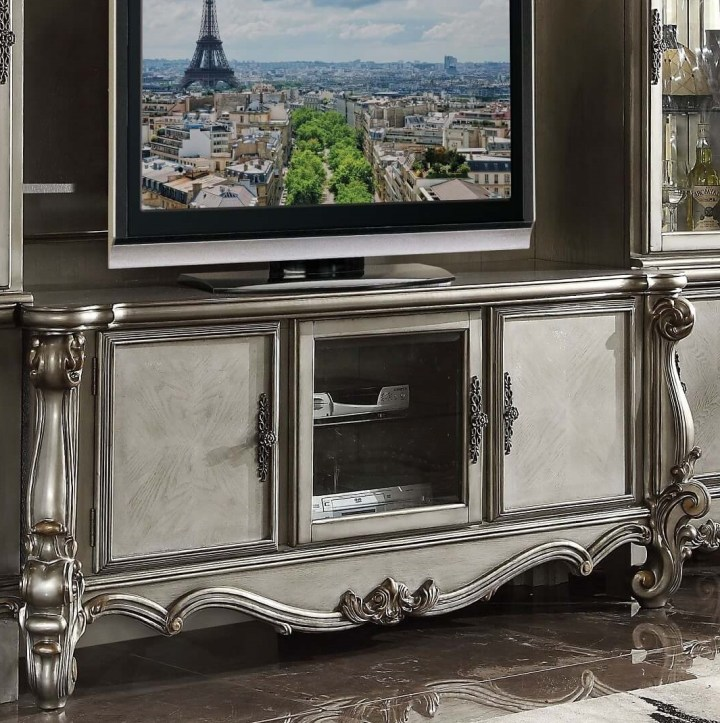 Versailles Antique Platinum Media Console
