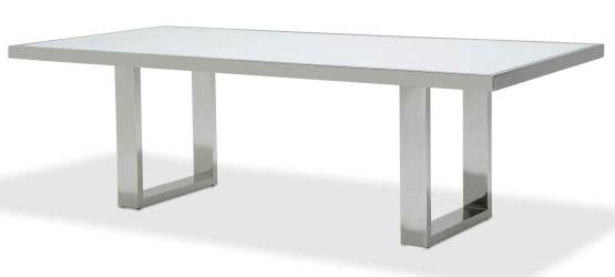 State St Glass Top Dining Table