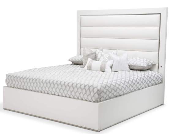 StateSt Upholstered Panel Bed