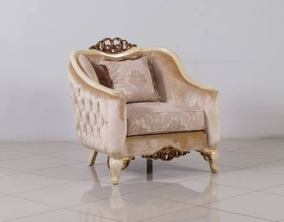 Angelica Wood Trim Chair