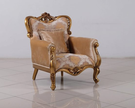Cleopatra Wood Trim Chair