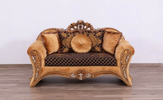 Emperador Wood Trim Loveseat
