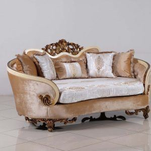 Rosabella Wood Trim Loveseat