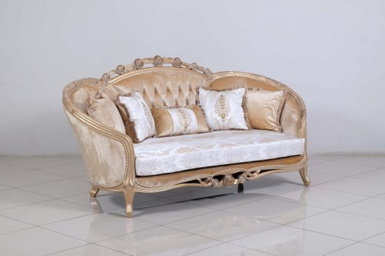 Valentina Wood Trim Loveseat
