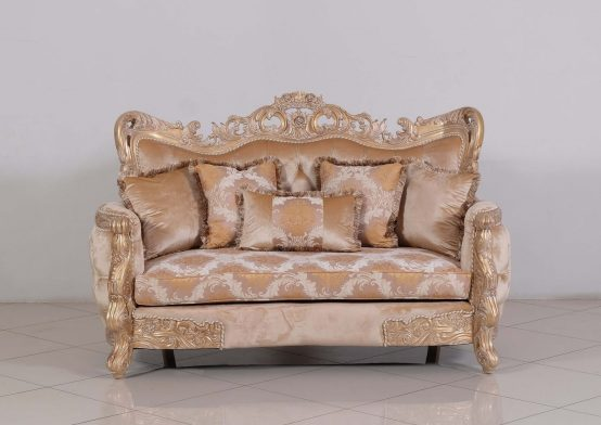 Imperial Palace Wood Loveseat