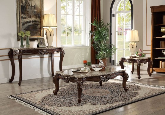 3 Piece Acme Mehadi Traditional Occasional Set