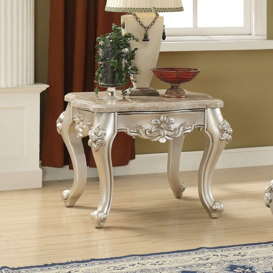 Acme Bently Marble Top End Table