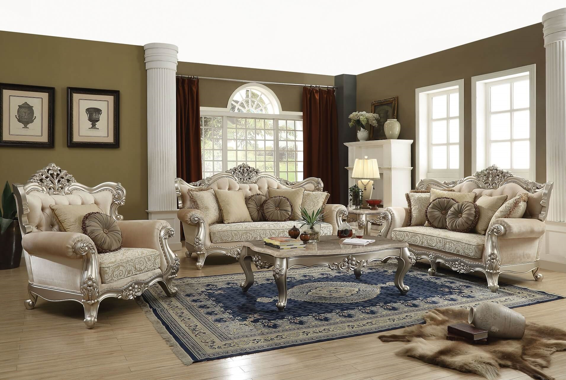 Acme Bently Traditional Living Room Set - USA Furniture Online