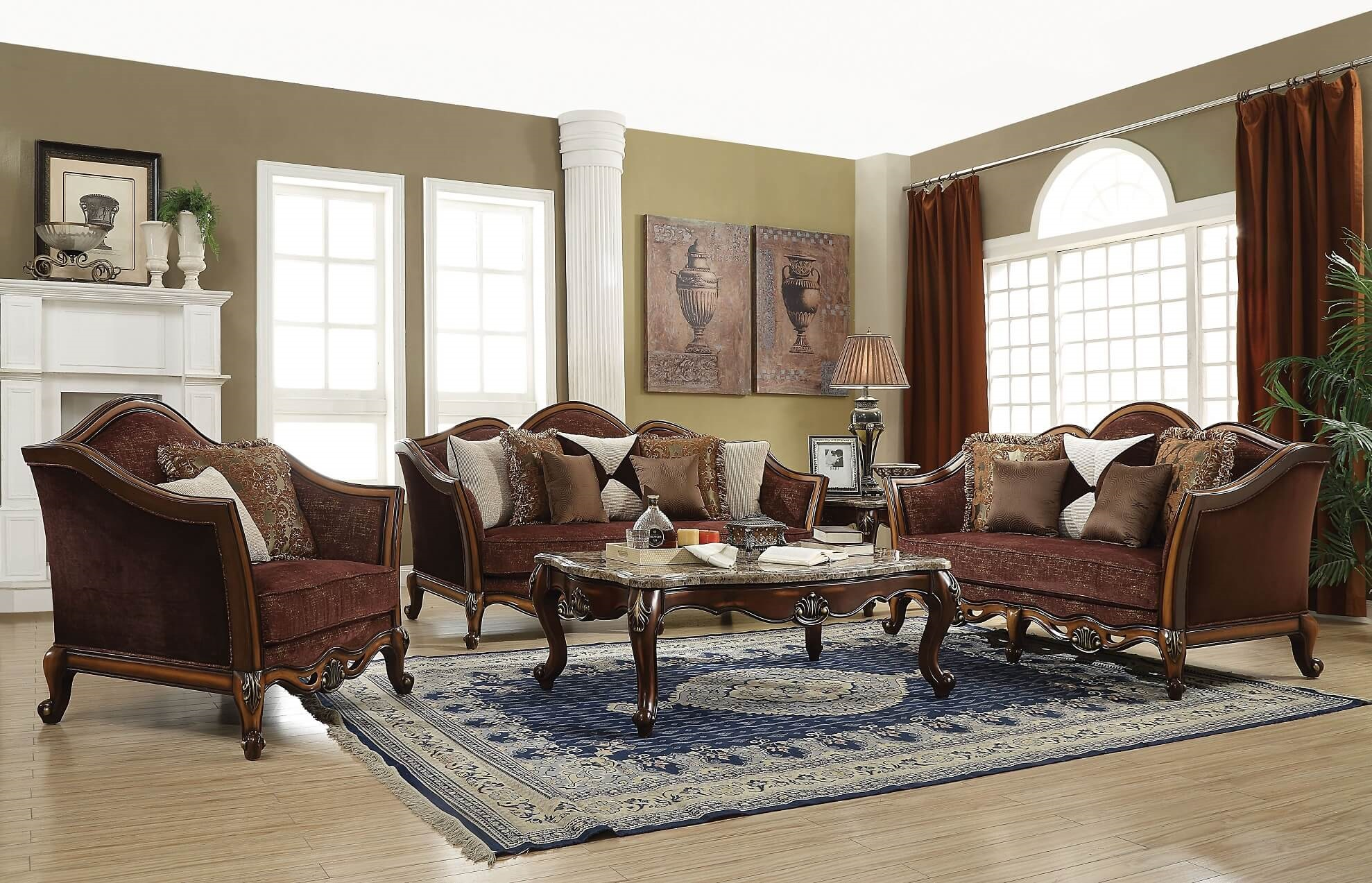Acme Beredei Traditional Living Room Set