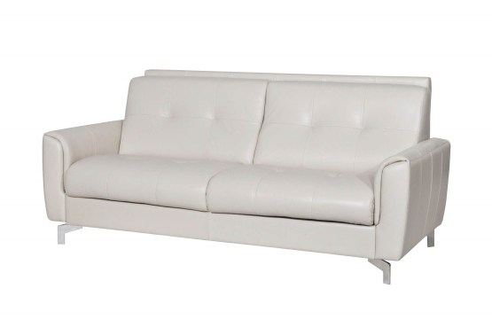 Benares Beige Italian Leather Sofa Bed - Made in Italy - USA ...