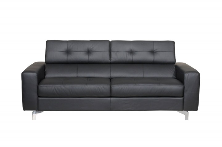 Tevere Black Italian Leather Sofa Bed - Made in Italy - USA ...