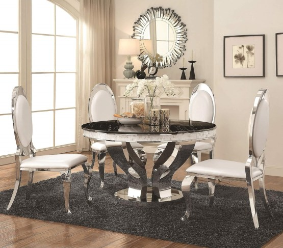 5 Piece Anchorage Round Dining Set
