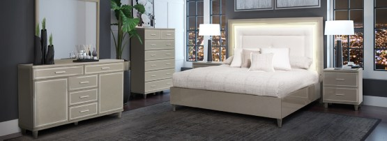 4 Piece Aico Urban Place Bedroom Set