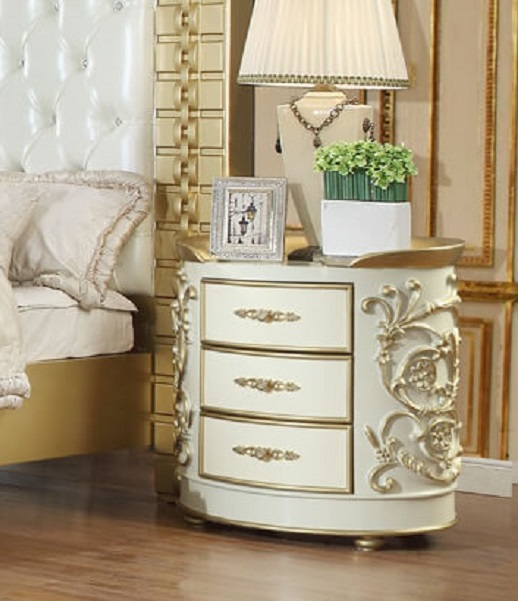 Homey Design HD-8032 Sanford 3 Drawer Nightstand