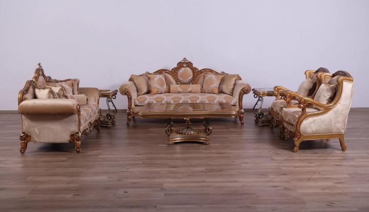 Raffaello II Brown Sofa Set