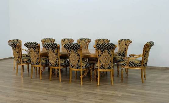 Maggiolini Dining Set With Black Gold Chair