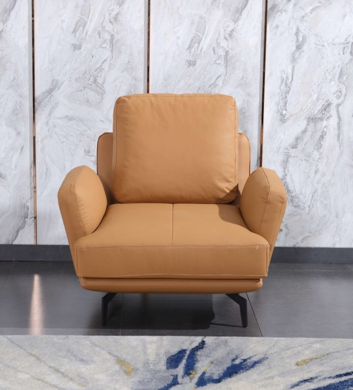 Tratto Cognac Italian Leather Chair