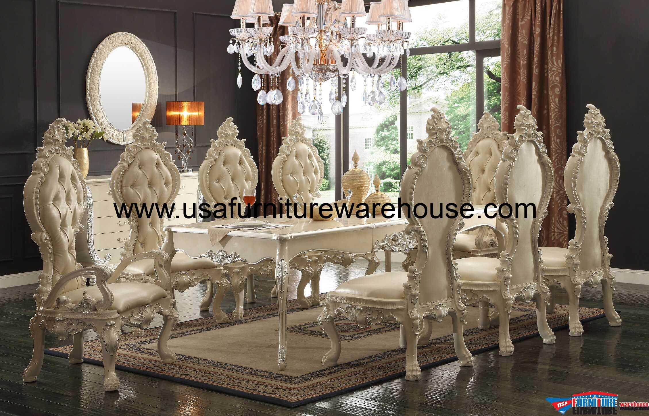 HD 13012 Homey Design Royal Palace Dining Set