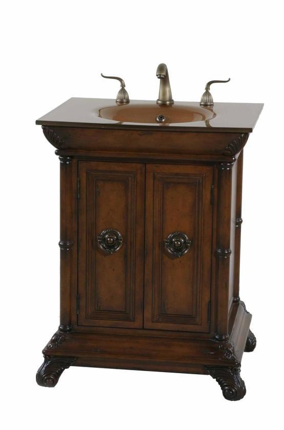 "Ultimate Accents 27"" Walnut Vanity Sink"