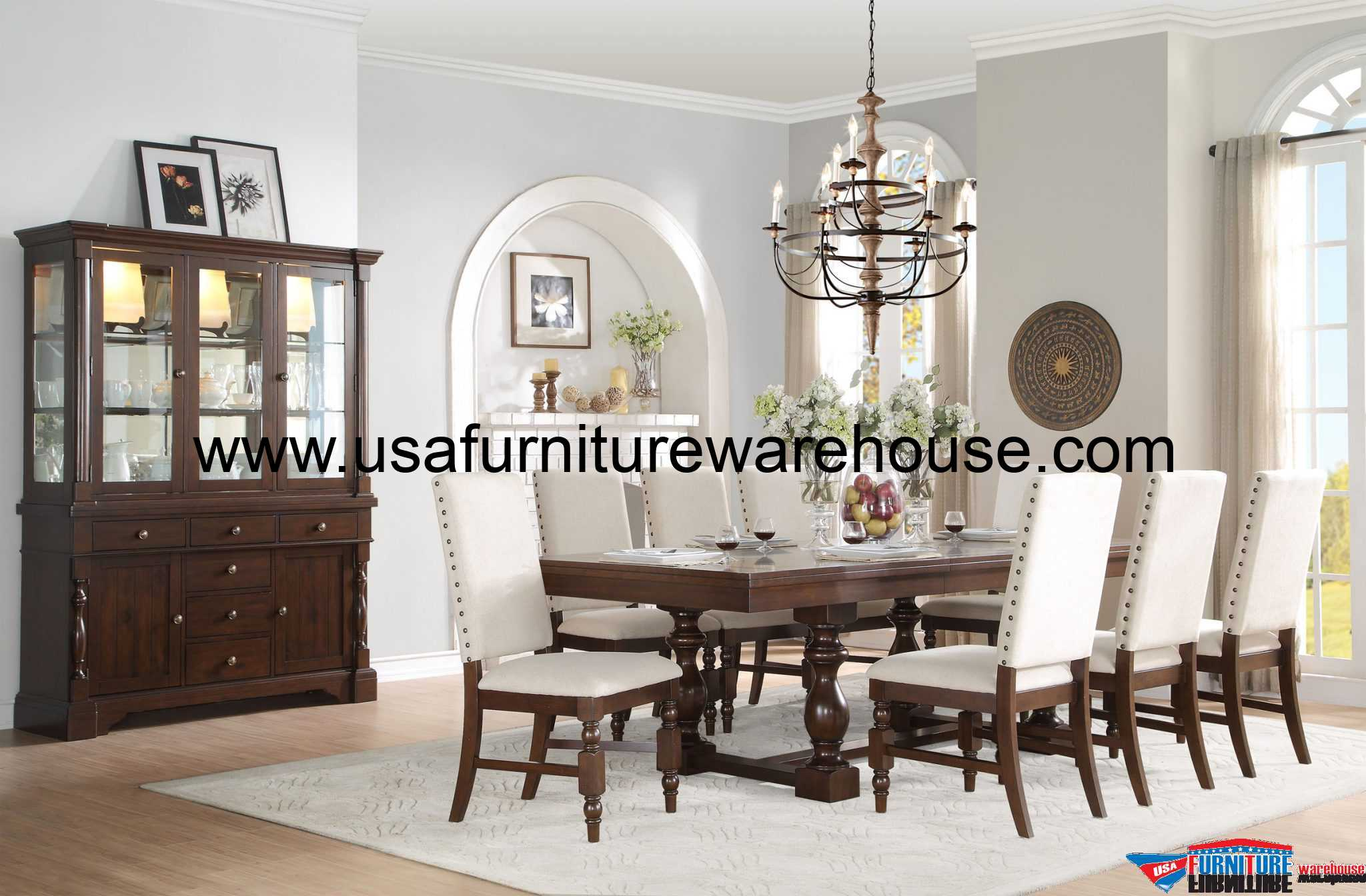9-Pc Homelegance Yates Cottage Style Dining Set