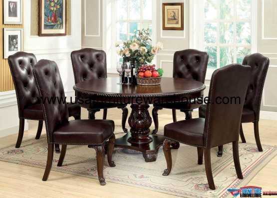 7 Piece Bellagio Round Dining Set